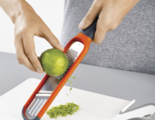 Handi-Grate 2-in-1 Mini Grater and Slicer - Orange